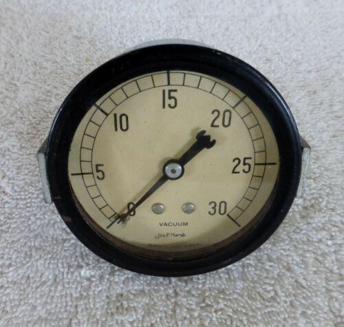 Marsh Instruments Vintage White Face 30 lb Vacuum Gauge Steampunk Skokie Chicago