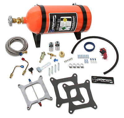 NOS Sniper Wet Nitrous Plate Kit - 4150 Square Bore W/ 10 LB Orange Bottle