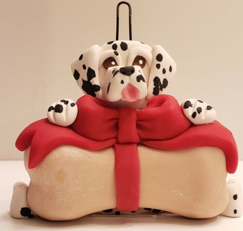 Dalmatian with Bone Christmas Ornament