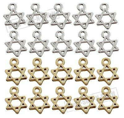DIY Lot of 20 soul STAR OF DAVID Pendant Amulet Charm Jewish Judaica Jewelry