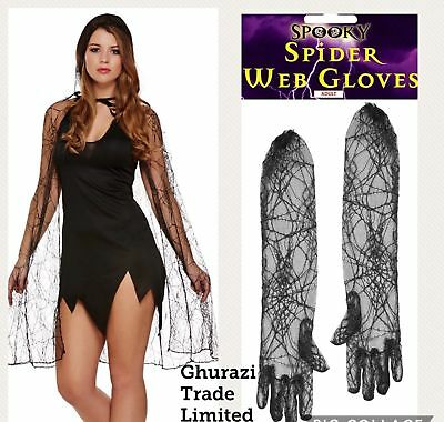 h Halloween Cape Cloak and Long Gloves Halloween Party  (Halloween-cape)