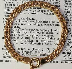 9 Carat Gold Double Snake Bracelet 9 Grams Mount Victoria Blue Mountains Preview