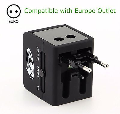 All In One Power Adapter Wall Charger Socket Travel International Plug Converter