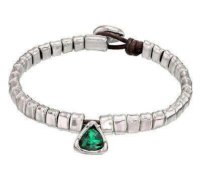Unode50 All Stars Green Swarovski Crystal Bracelet