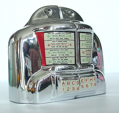 JUKEBOX WALLBOX Salt & Pepper Seeburg 3W1 Diner Selector S&P Vintage Vandor 1992