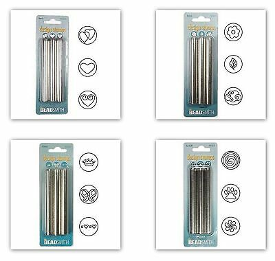 Metal Jewelry Design Stamps (3-piece set) 6 mm by Beadsmith