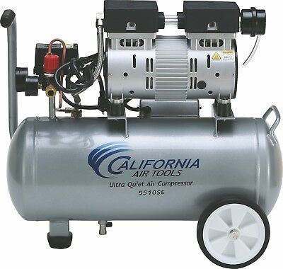 California Air Tools 5510se Ultra Quiet Oil-free Air Compressor -used