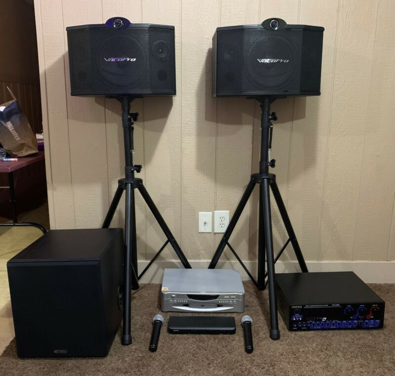 Karaoke system package! - Valued over $2,000 - Used once!(Lower 48 States Only!)