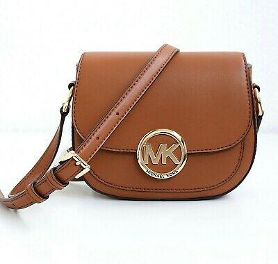 Michael Kors Bolso de Bandolera lillie Sm Saddle Crossbody Luggage Nuevo