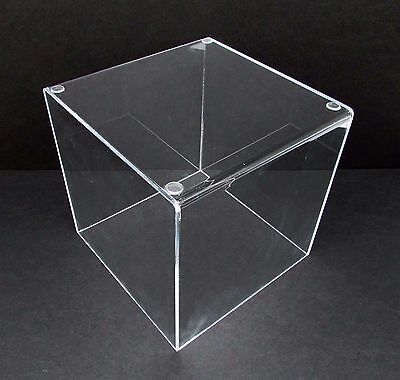 Acrylic 8 Jewelry Cube Riser 5-sided Clear Display Box New