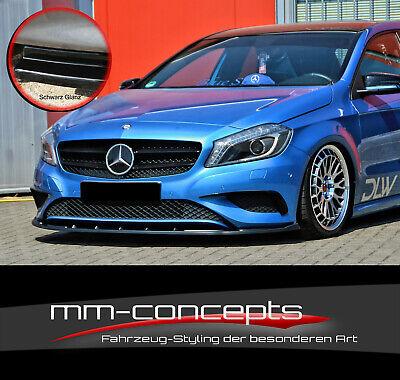 CUP Spoilerlippe SCHWARZ für Mercedes A Klasse W176 URBAN Frontspoiler Schwert
