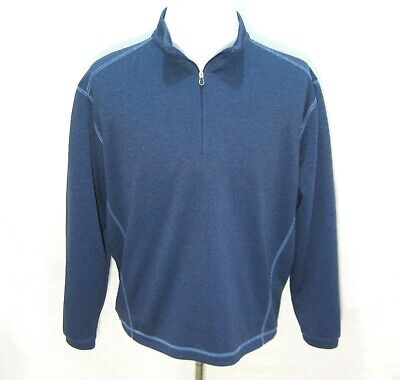 PEBBLE BEACH Men's Blue Athletic Performance Golf Sweater Size Medium Sweatshirt ()
