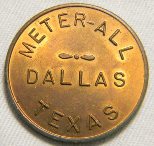 Hamburg Ypsilanti Gallup Silkworth car wash Dalas Texas meter-all token (0620)