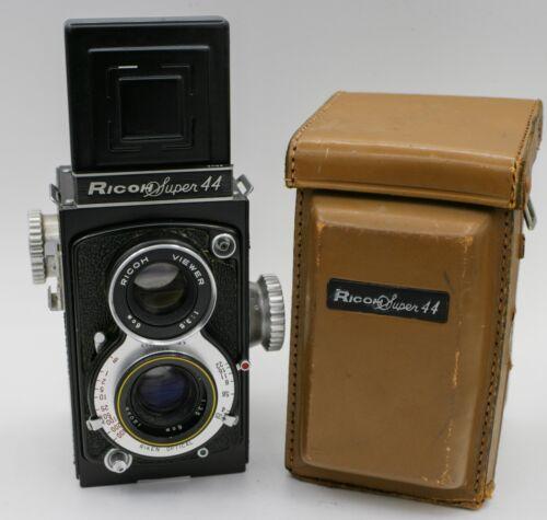 Rare - Ricoh Super 44 127 Film TLR Camera w/ Riken 6cm. F3.5 Lens & Case