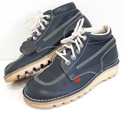 Kickers Kick Hi Boots UK Size 8 Navy Blue Classic Shoes. EU42.