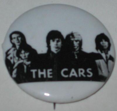"1980's The Cars Tour Pin 1.25"""