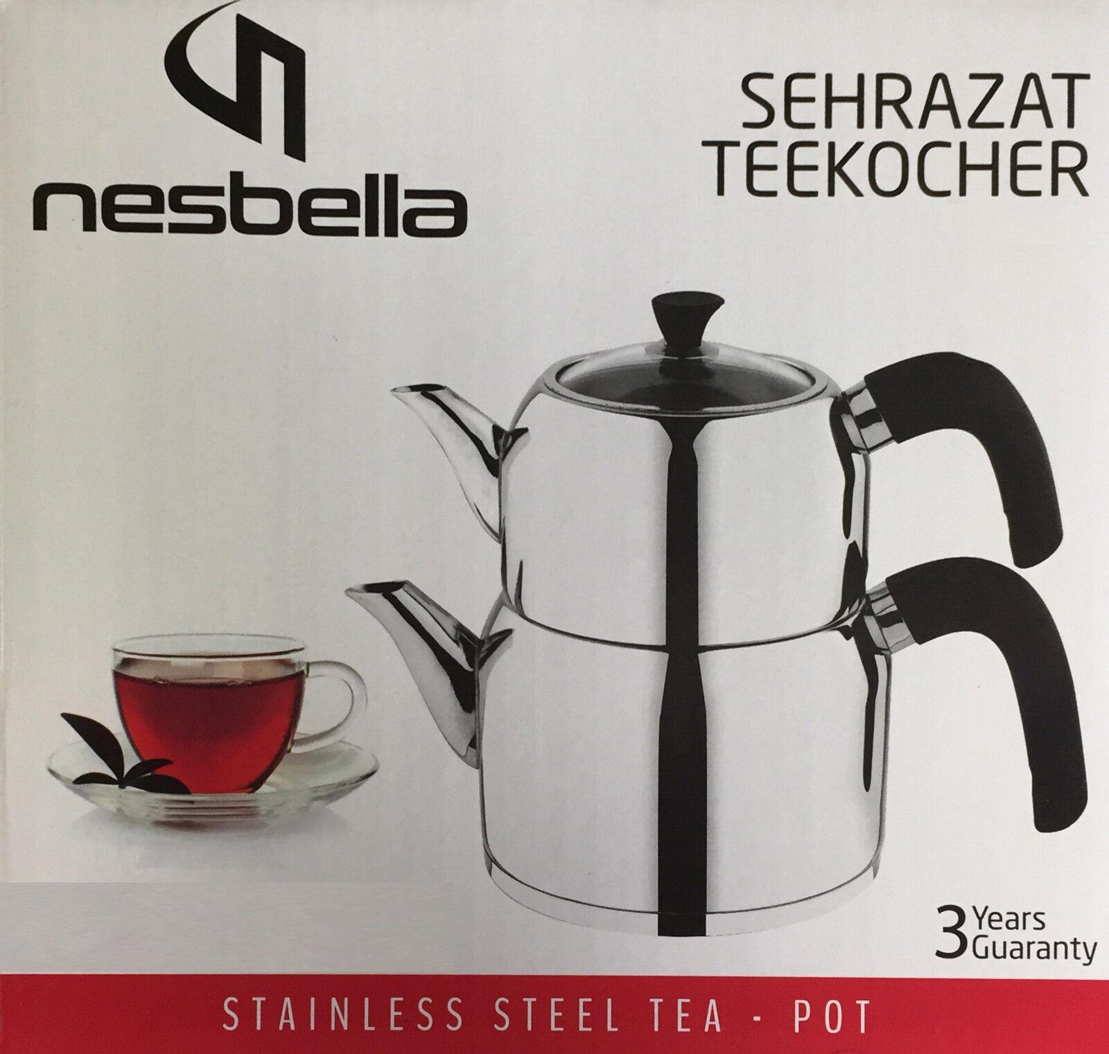 Nesbella Teekocher Teekannenset Caydanlik Wasserkanne Induktion