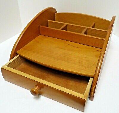 Vintage 1 Drawer Solid Wood Office Desk Organizer