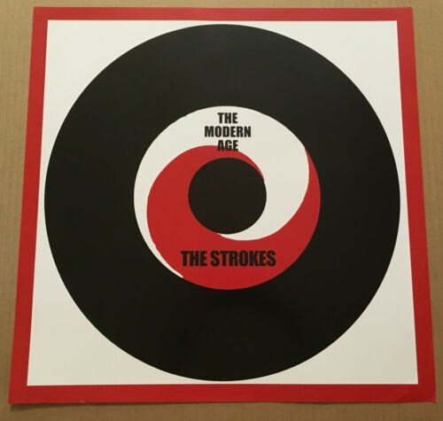 THE STROKES Ultra Rare LIMITED 2001 PROMO POSTER for Modern Age CD USA 17x17