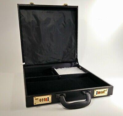 Jewelry Salesman Display Briefcase Travel Show Case Black