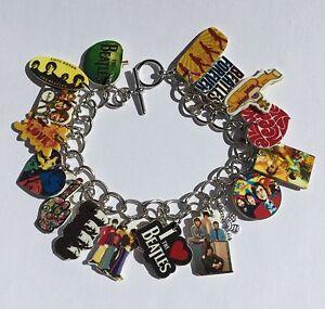 Beatles Bracelet Yellow Sub Music Band Charms