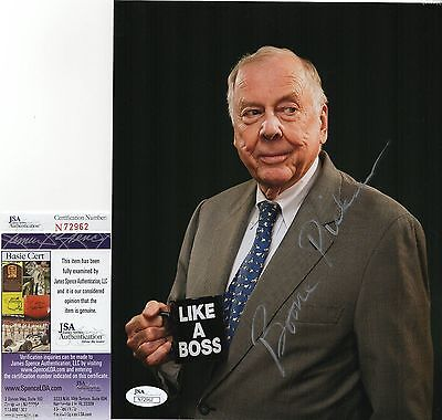 T  Boone Pickens Signed 8X10 Photo W  Jsa Coa  N72962 Oklahoma State Cowboys