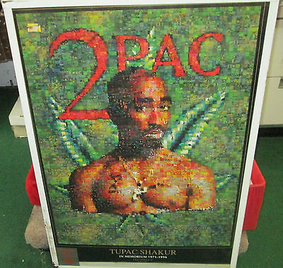 Tupac Shakur 2 Pac Sealed New  Rap Hip Hop Rare Sealed  Poster  Mosaic 2002
