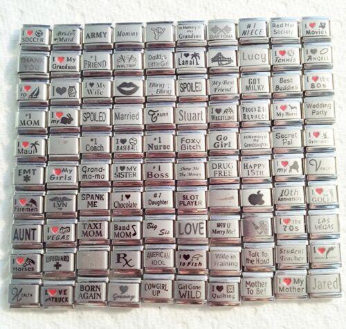 100 Piece ITALIAN  CHARMS 9mm lot # 469 No duplicates -FREE SHIPPING
