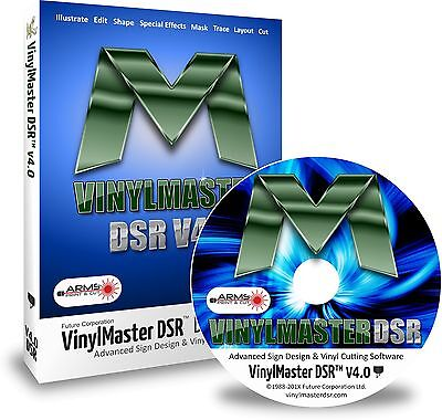 VinylMaster DSR V4 Expert Level Design Software for Vinyl Sign Cutting Plotters