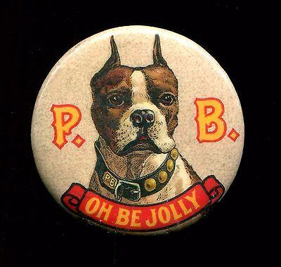 P.B. VAN NOSTRAND'S ALE BUNKER HILL BREWERIES -  1896 BEER PIN - BEIGE VARIATION