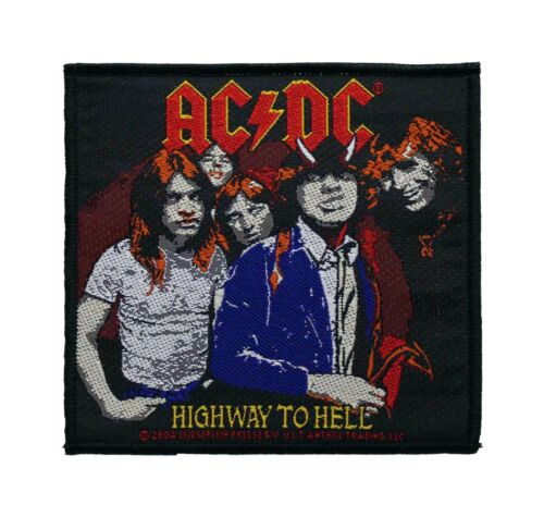 AC/DC Highway To Hell Woven Sew On Battle Jacket Patch - Licensed 090