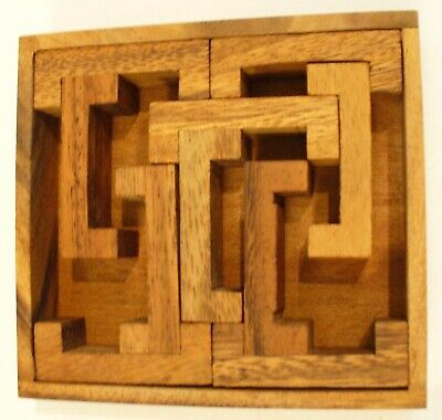 Siam Mandalay - Wooden Puzzle 3D Games Bracket w/ Brackets