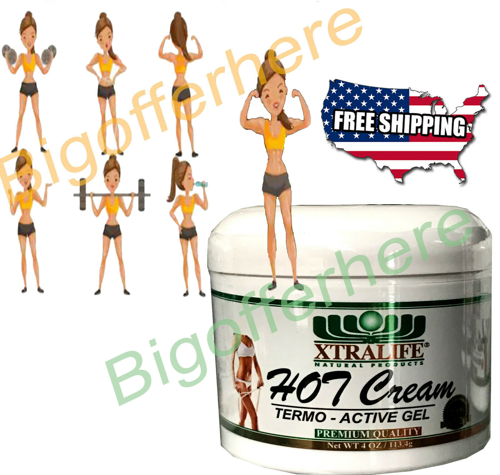 Fat Burner Gel Loss Weight Tummy Slimming Fitness Body Sweat