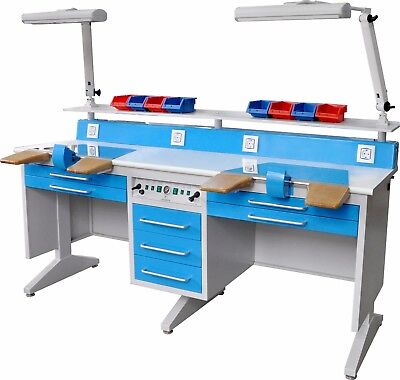 2 Person Workstation Bench For Laboratory Wdust Collector Em-lt6