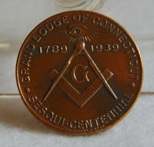 MASONIC GRAND LODGE OF CONNECTICUT, SESQUI-CENTENNIAL,1789-1939
