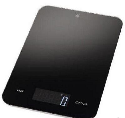 WMF Digitale Waage Küchenwaage inkl. Batterien schwarz Glas Kunststoff NEU