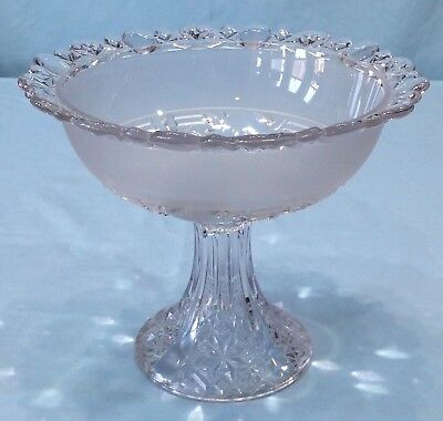 Vintage Pressed Glass Footed Open Compote