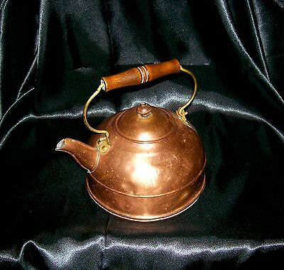 Apartment Kettlette Western Metal Supply Copper Tea Kettle 1888-1938 Tin Lined