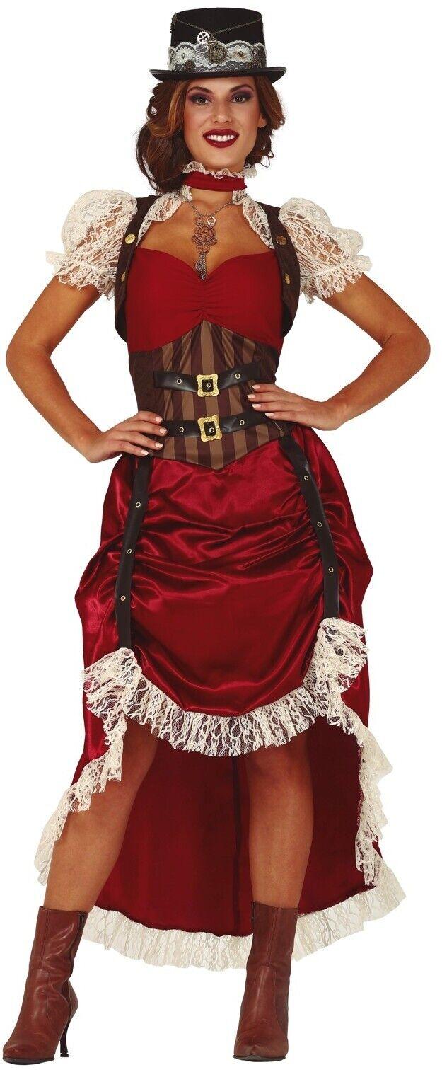 Womens Saloon Gal Western Wild West Fancy Dress Costume