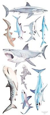 "Marine Life Shark Tropical Fish Dolphin Scrapbook Stickers 5"" x 12"" YOUR CHOICE!"
