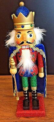 Kurt Adler Hollywood Red & Green King W/ Blue Cape Christmas Holiday Nutcracker