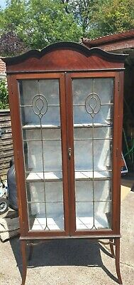 Antique Glass Display Cabinet - open to offers  - Collect From HU5