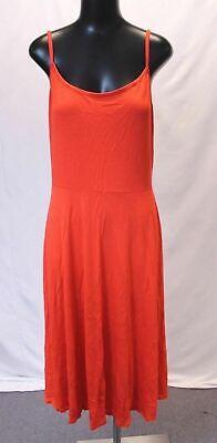 Boohoo Women's Plus Jersey Basic Midi Skater Dress AB3 Orange UK:18 US:14 NWT