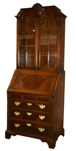 Vintage Kittinger One Piece Walnut Traditional Style Secretary Desk