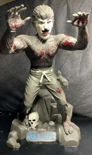 "1962 AURORA the Wolf Man original 9"" Painted Built Up monster model Kit Nice!"