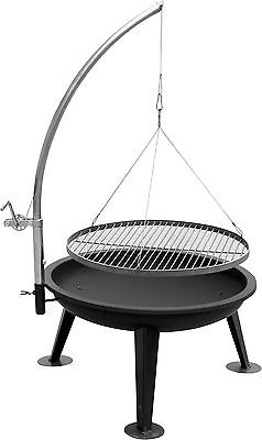 XXL KIUG®-Schwenkgrill LINUS mit 80cm Feuerschale Grill BBQ Kohlegrill NEU & OVP