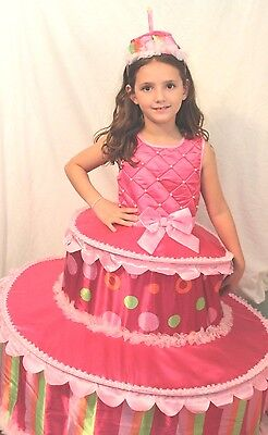 Birthday Tiered Cake Boutique Halloween Costume Girls Cosplay Sweet Pink Kid - Kids Halloween Birthday Cakes