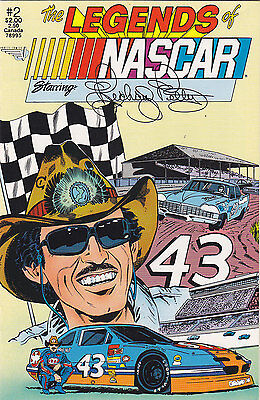 The Legends of NASCAR #2 Starring RICHARD PETTY 1991 Vortex Comics FREE USA SHIP