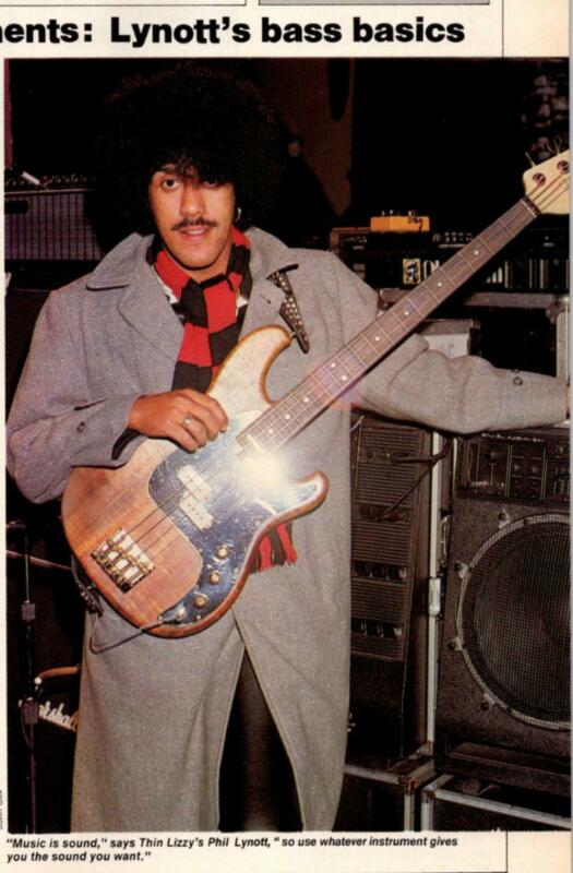 """1981 VINTAGE 1PG MAGAZINE Article """"STARS INSTRUMENTS"""" PHIL LYNOTT OF THIN LIZZY"""