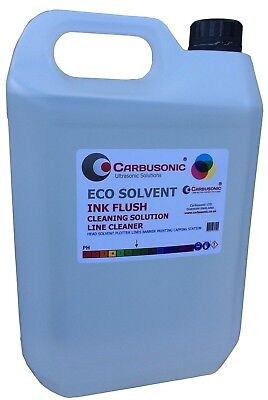 Eco solvent flush clean up solution wide format ink printer heads, lines 5 Lt